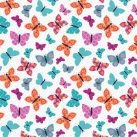 Wings N Things Butterflies Multi by Studio E Fabrics 100% Cotton