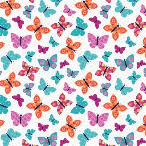 Wings N Things Butterflies Multi by Studio E Fabrics 100% Cotton