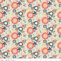Woodland Floral Cream by Riley Blake Designs 100% Cotton