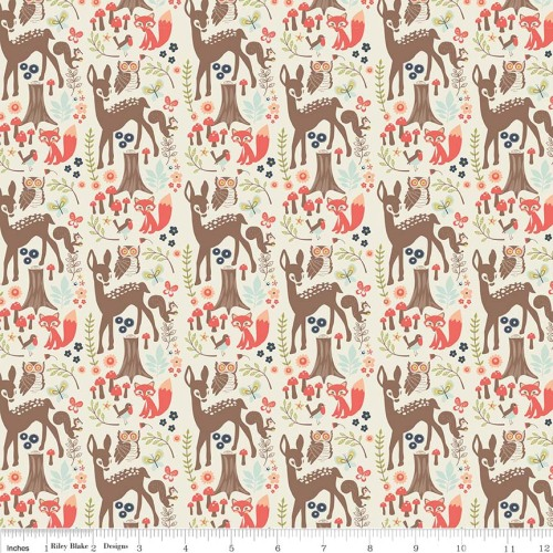 Woodland Main Cream by Riley Blake Designs 100% Cotton