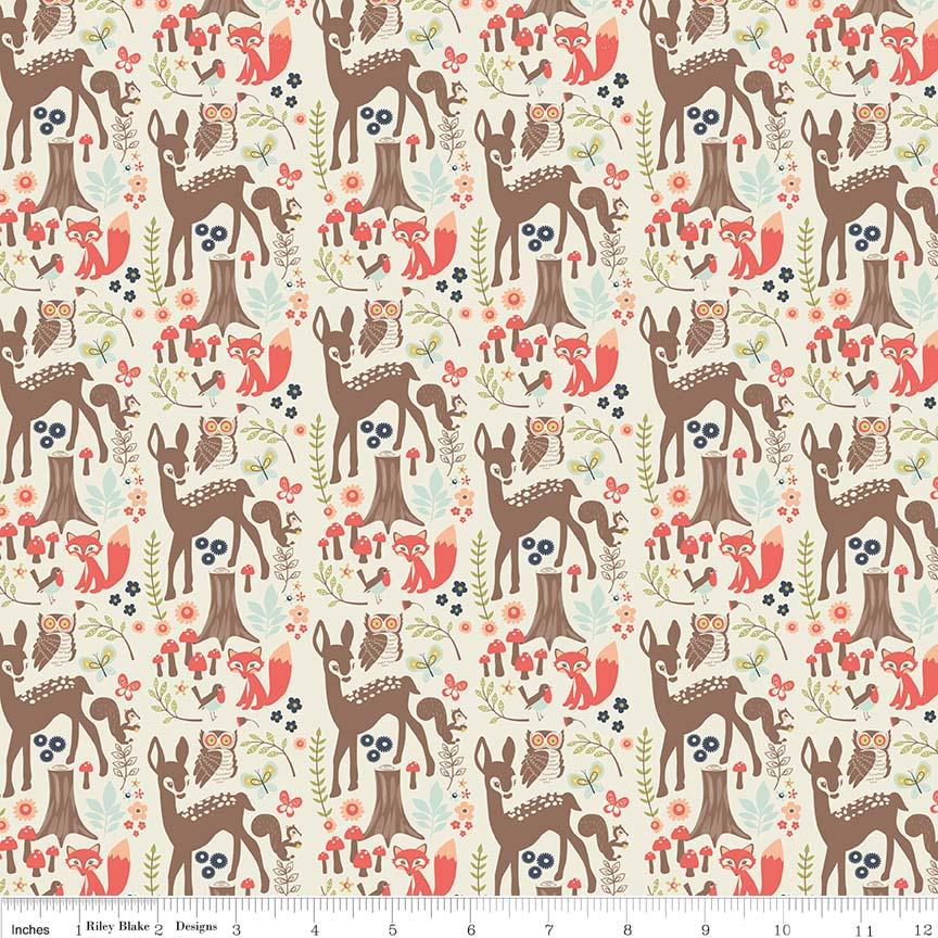 Woodland Main Cream by Riley Blake Designs 100% Cotton