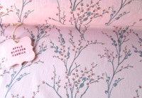 Japanese Spring Blossom Pink by Rose & Hubble 100% Cotton
