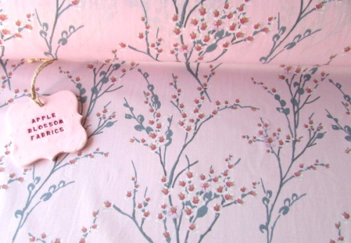 Japanese Spring Blossom Pink 100% Cotton