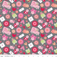 Lovebugs Friends Grey by Riley Blake Designs 100% Cotton