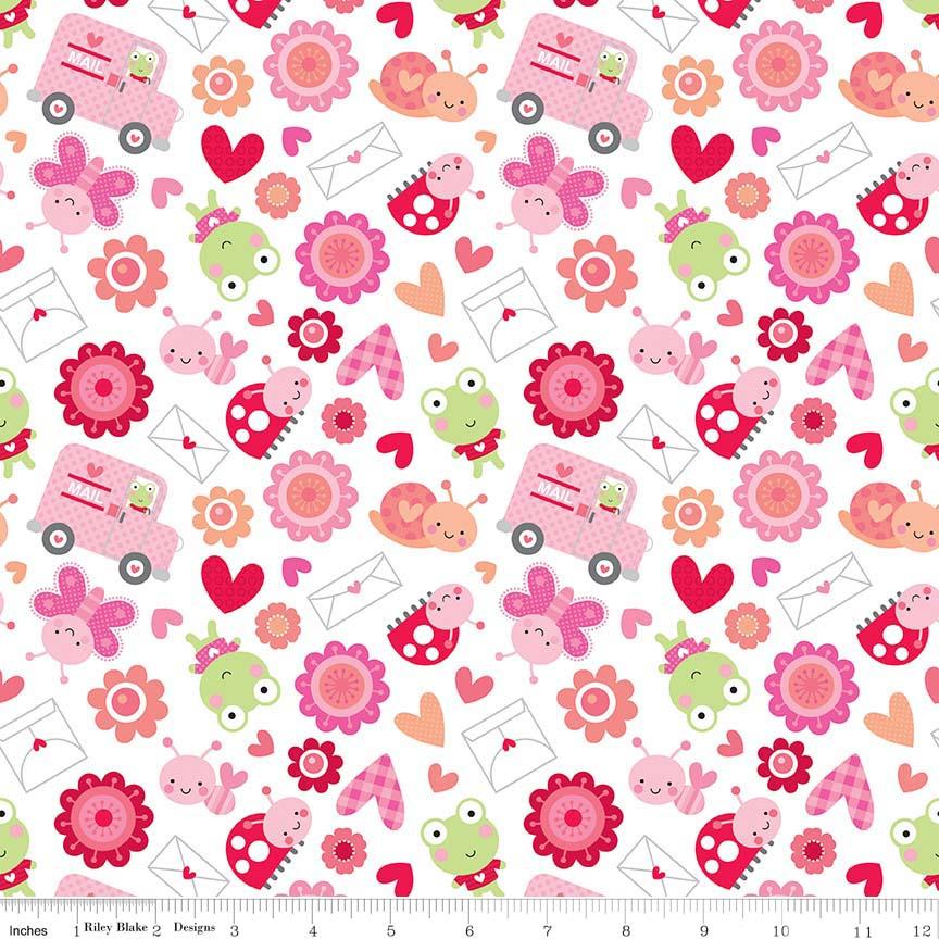 Lovebugs Friends White by Riley Blake Designs 100% Cotton