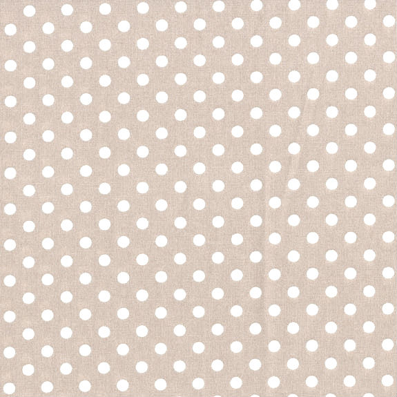 3mm Tiny Dots Beige by Rose & Hubble 100% Cotton