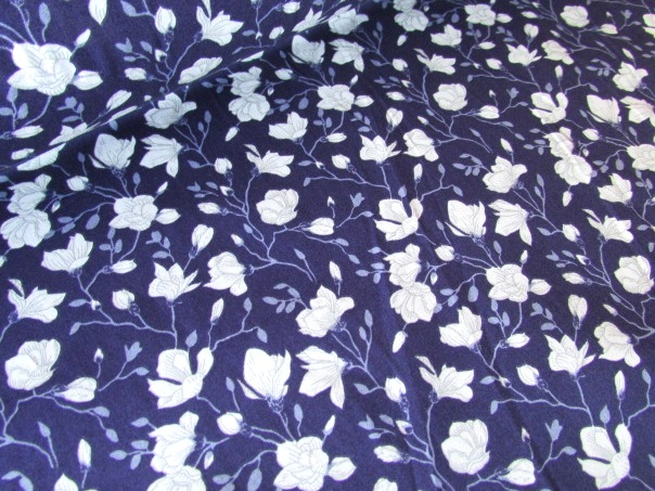 Georgia Floral Buds Navy by Rose & Hubble 100% Cotton