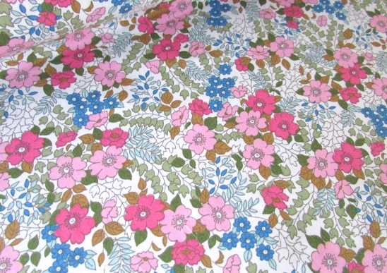 Hannah Green Vintage Floral by Rose & Hubble 100% Cotton