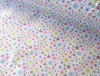 Zoe Flower Splash Lilac Green Pink by Rose & Hubble 100% Cotton