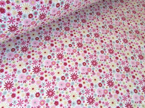 Zoe Flower Splash Deep Pink by Rose & Hubble 100% Cotton