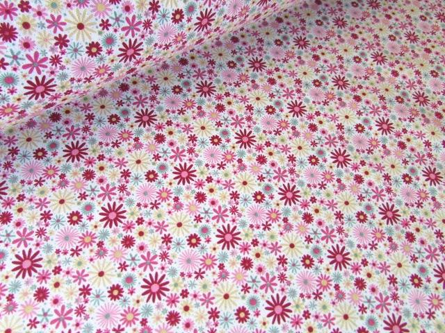 Zoe Flower Splash Deep Pink by Rose & Hubble 100% Cotton