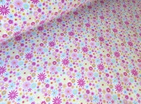 Zoe Flower Splash Bright Pink by Rose & Hubble 100% Cotton