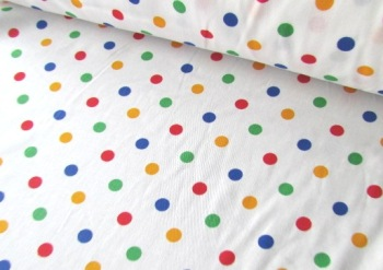 7mm Primary Dots by Rose & Hubble 100% Cotton
