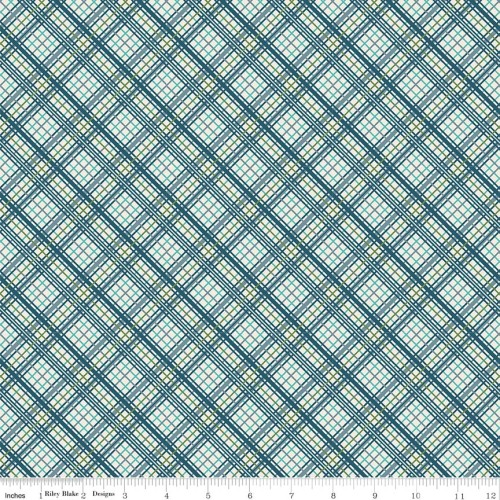 Offshore Plaid Blue by Riley Blake Designs 100% Cotton