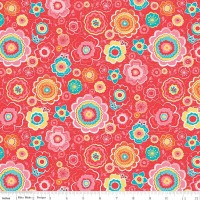 Tree Party Floral Red by Riley Blake Designs 100% Cotton