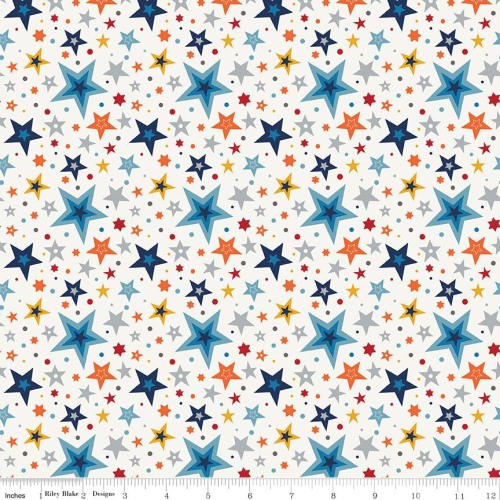 Play Ball 2 Stars Multi by Riley Blake Designs 100% Cotton