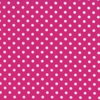 3mm Tiny Dots Cerise by Rose & Hubble 100% Cotton