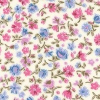 Petite Petals on Cream 100% Cotton