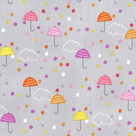 Pitter Patter Drizzle Mist by Michael Miller 100% Cotton