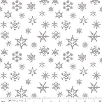 Snowflake Sparkle Silver by Riley Blake Designs 100% Cotton