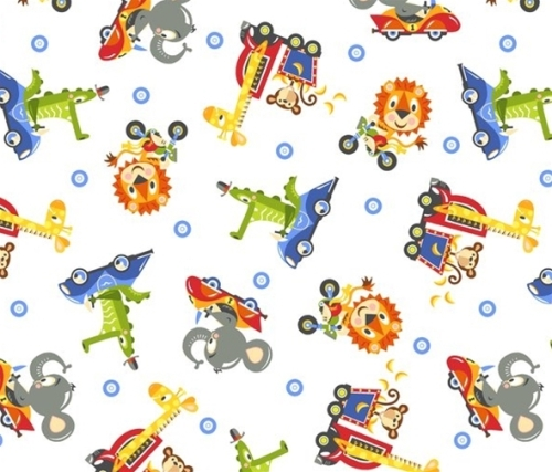 Safari Drive by Studio E Fabrics 100% Cotton