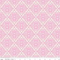 Teddy Bear Picnic Damask Pink by Riley Blake Designs 100% Cotton