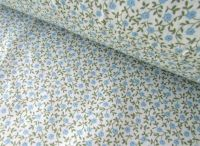 Alice Mini Florals Blue by Rose & Hubble 100% Cotton