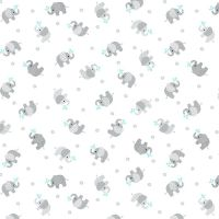 Baby Love Elephants Double Gauze by Studio E Fabrics 44 x 108 cm