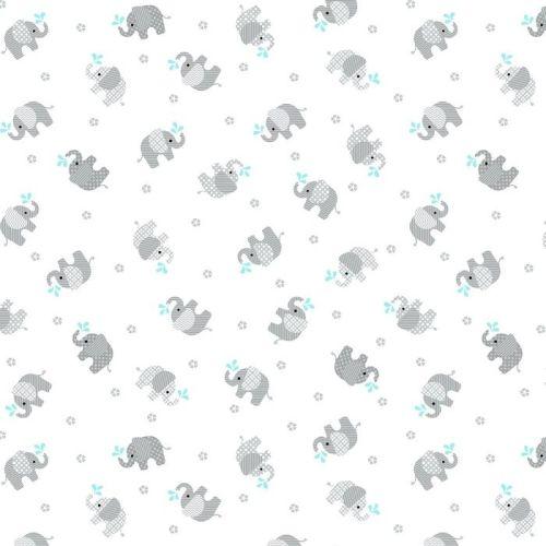 Baby Love Elephants Double Gauze by Studio E Fabrics