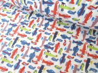 Planes on Cream by Rose & Hubble 100% Cotton
