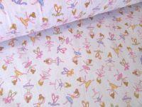 Ballerinas on Pink Ballet Dancers 100% Cotton