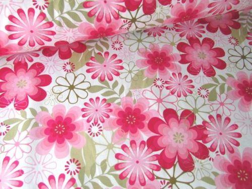 Lola Floral Burst Pink 100% Cotton