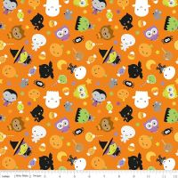 Ghouls and Goodies Main Orange by Riley Blake Designs 100% Cotton 39 x 106 cm