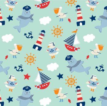 Ahoy Matey by Studio E Fabrics 100% Cotton
