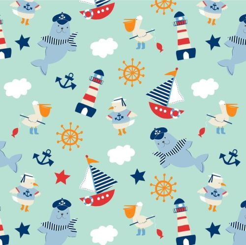 Ahoy Matey by Studio E Fabrics 100% Cotton