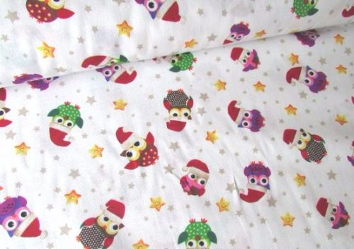 Christmas Festive Owls by Rose & Hubble 100% Cotton