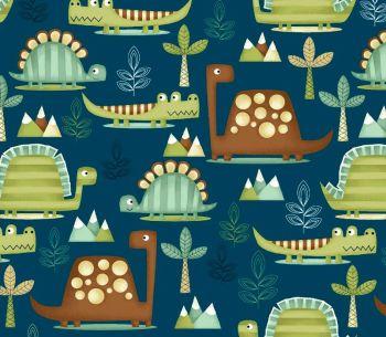 Dino-riffic by Studio E Fabrics 100% Cotton