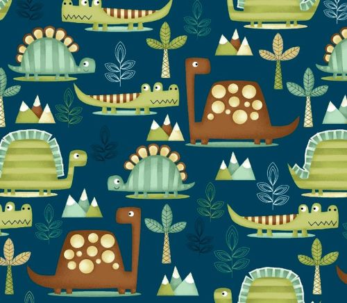 Dino-riffic by Studio E Fabrics 100% Cotton