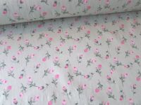 Spring Rosebuds on Sage Green by Rose & Hubble 100% Cotton