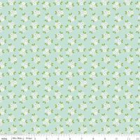 Garden Girl Posies Mint by Riley Blake Designs 100% Cotton