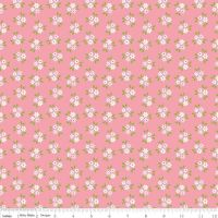 Garden Girl Posies Pink by Riley Blake Designs 100% Cotton
