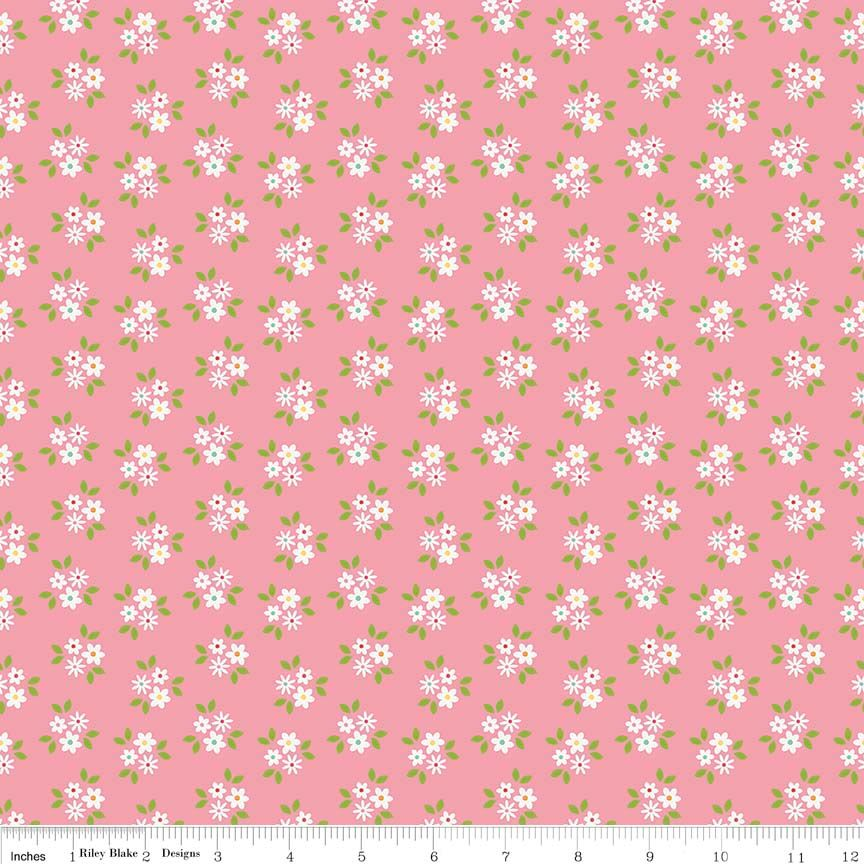 Garden Girl Posies Pink by Riley Blake Designs 100% Cotton