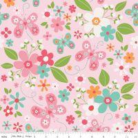 Garden Girl Main Pink by Riley Blake Designs 100% Cotton