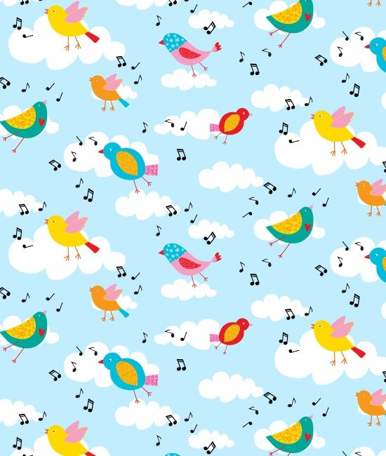 Backyard Buzz Song Birds by Blank Quilting 100% Cotton