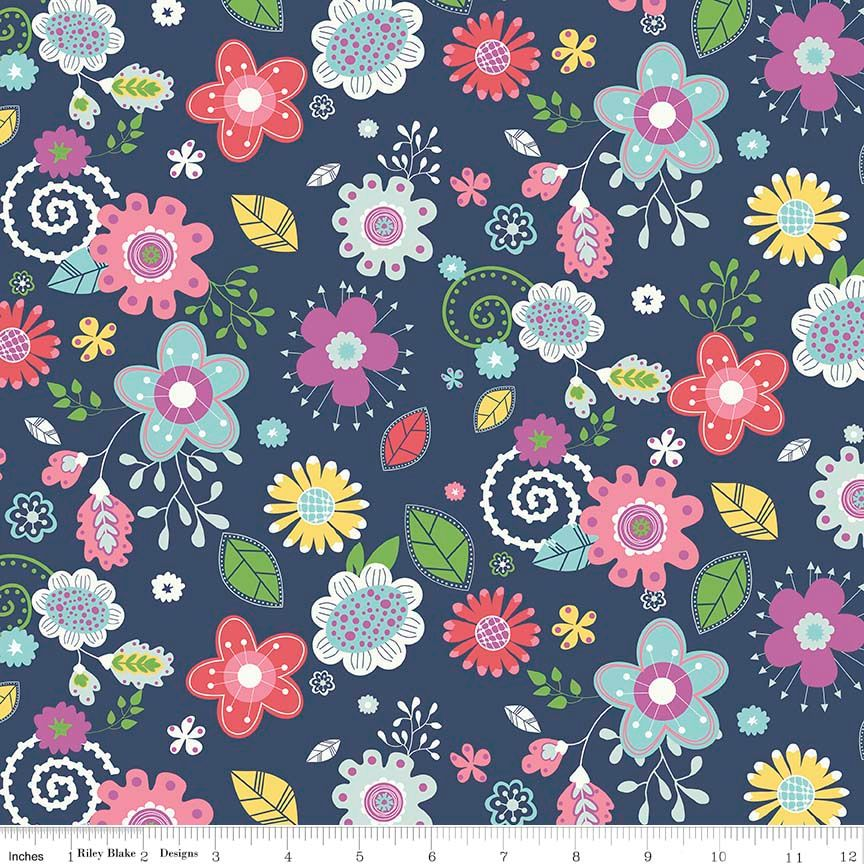 Enchanted Main Navy by Riley Blake Designs 100% Cotton