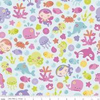 Under The Sea Main Aqua by Riley Blake Designs 100% Cotton