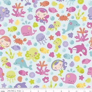 Under The Sea Main Aqua by Riley Blake Designs 100% Cotton