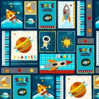 Space Adventure Patch by Studio E Fabrics 100% Cotton