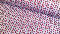 Camilla Floral Petals Pink Purple & Blue by Rose & Hubble 100% Cotton