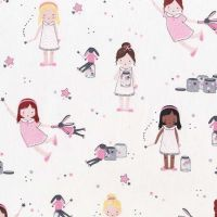 Twinkle Fairies Sprinkle, Sprinkle Little Stars by Michael Miller Fabrics 100% Cotton